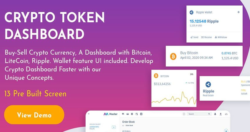 Crypto Admin Dashboard With 13 Detailed Screens