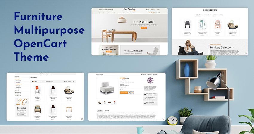 Furniture OpenCart Template – Create Your Own Furniture Store