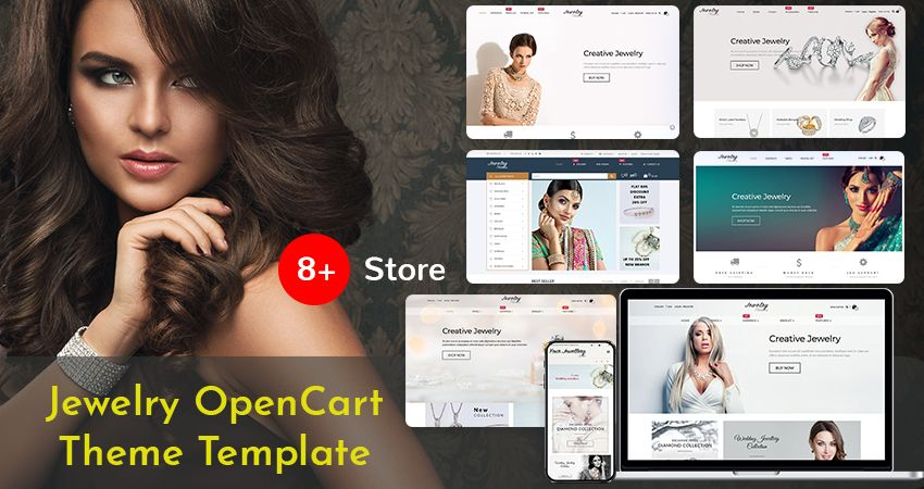 Jewelry Responsive Opencart Theme With 8+ Beautiful And Elegant Stores