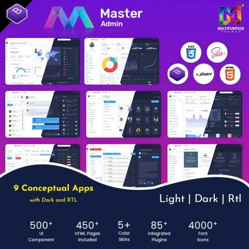 Master Admin – Responsive Admin Dashboard Template