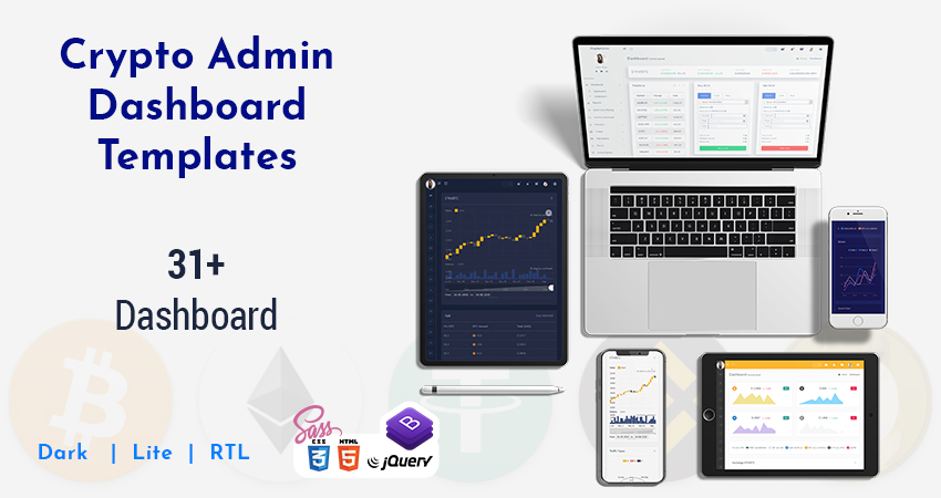 Cryptocurrency Dashboard Admin Template And Admin Panel With 31+ Crypto Dashboard