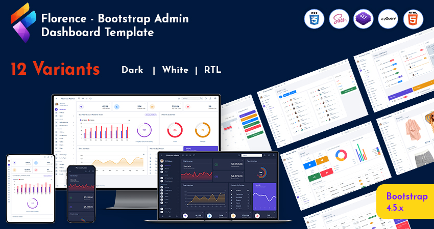 Bootstrap Admin Web App And Dashboard Admin Template With Admin Dashboard UI Kit – Florence