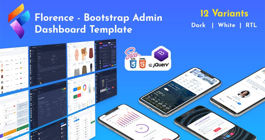 Web Application Kit – Florence Responsive Admin Dashboard Template With Analytical Dashboard