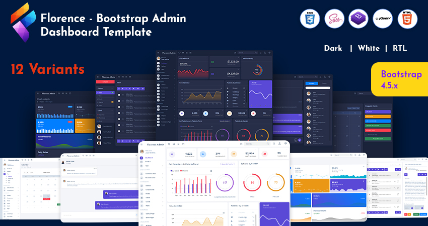 Admin Template With Admin Dashboard UI Kit For Analyzing Website Data – Florence