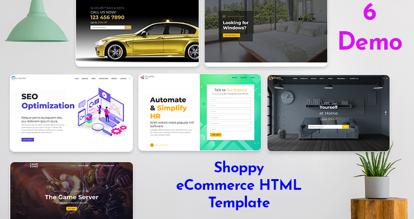 Responsive HTML5 Template – Shoppy With 6 Creative Demos