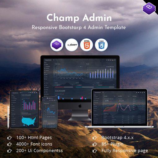 Champ Admin – Responsive Admin Dashboard Template