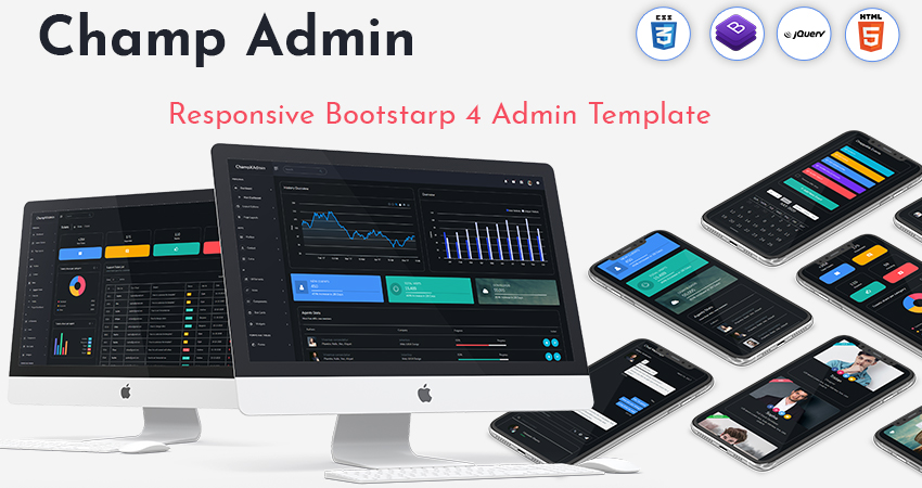 Bootstrap Admin Template And Bootstrap Admin Web App – Champ With Bootstrap UI Kit