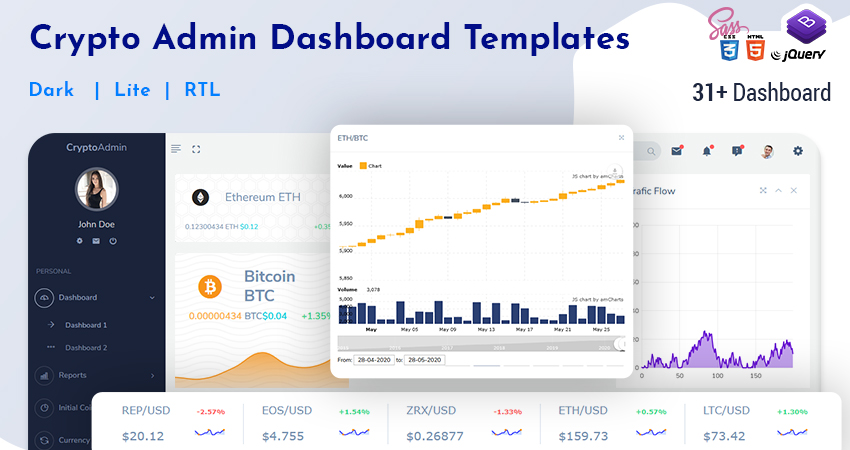 31+ Crypto Dashboard Bitcoin CryptoCurrency Template And Admin Panel With Crypto UI Kit
