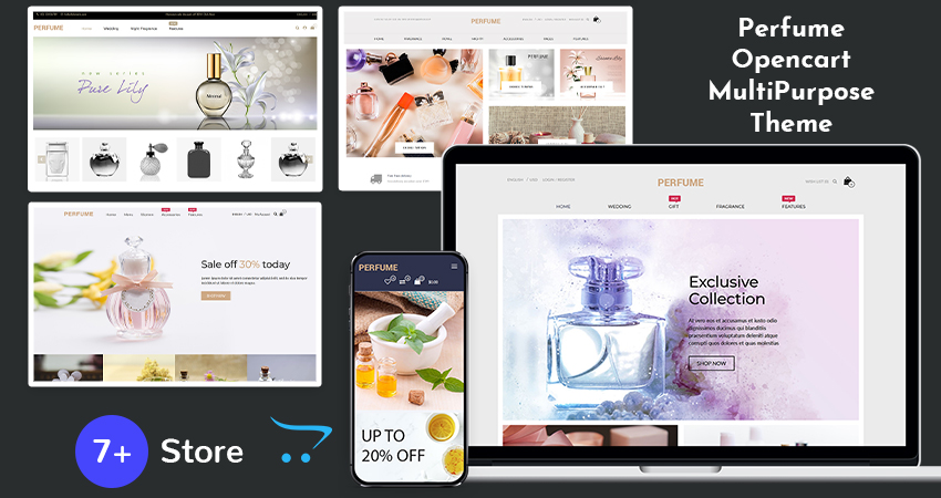 OpenCart Multipurpose Template – Perfume To Create Your Own Online Perfume Store