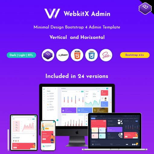 WebkitX – Bootstrap Admin Template & User Interface