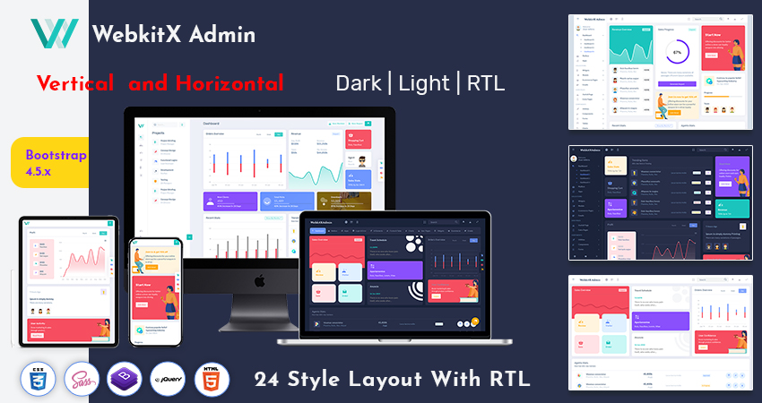 Dark Dashboard Admin Template HTML Admin Dashboard – Webkitx