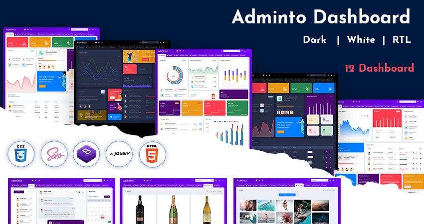 Adminto LTR Light Admin Template With Bootstrap Dashboard