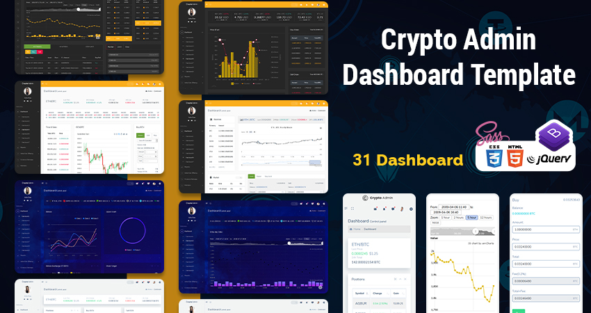 Crypto ICO Admin Template With Bitcoin CryptoCurrency Template
