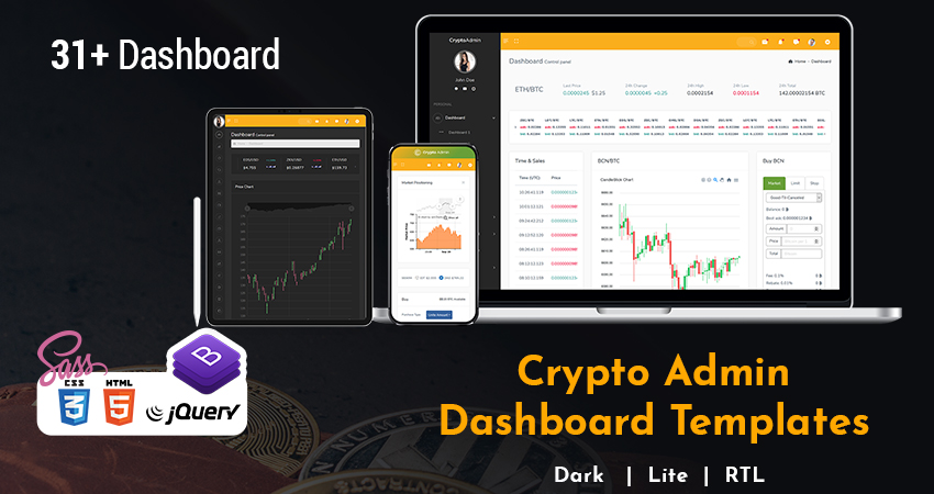 Crypto Admin Templates And ICO Admin Template With Crypto UI Kit
