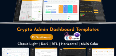 Dark Bitcoin CryptoCurrency Template With ICO User Dashboard