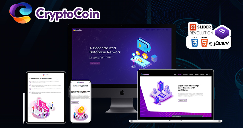 Cryptoico – Premium Html Template With Cryptocurrency HTML Template