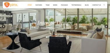 Interior Design Multipurpose Responsive HTML Template – SpinX For Creating Interior Design Business Websites