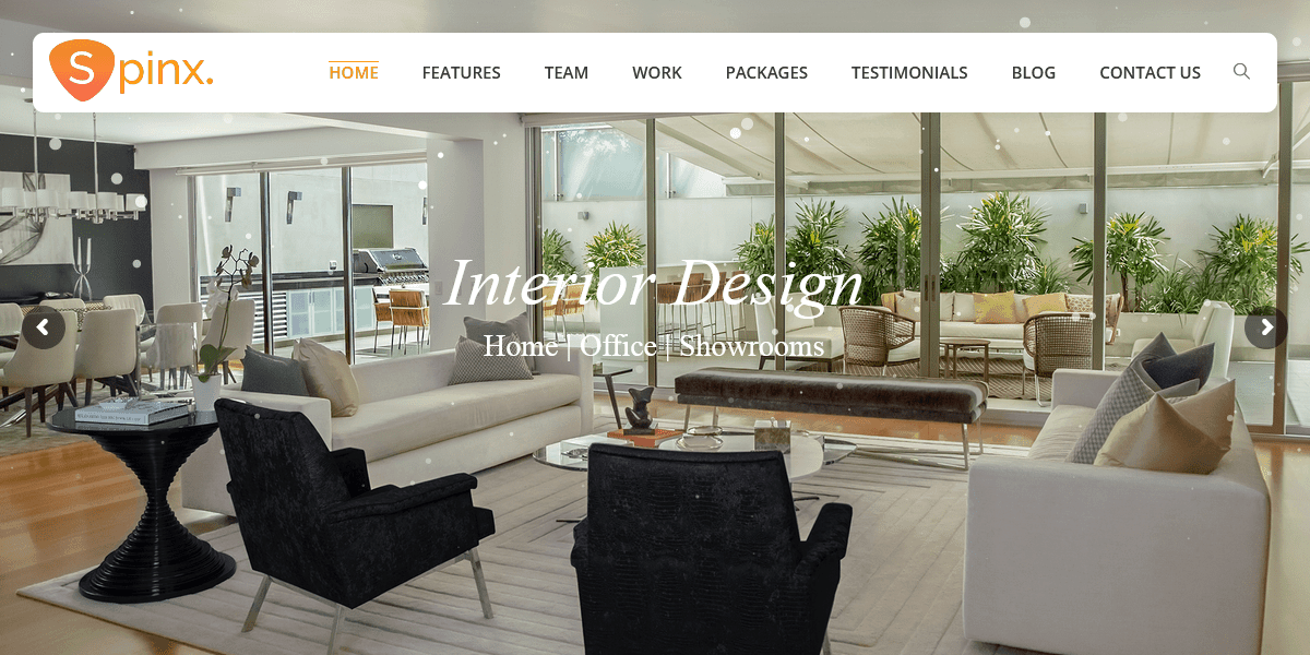 Interior Design Multipurpose Responsive HTML Template – SpinX For Creating Interior Design Business Websites