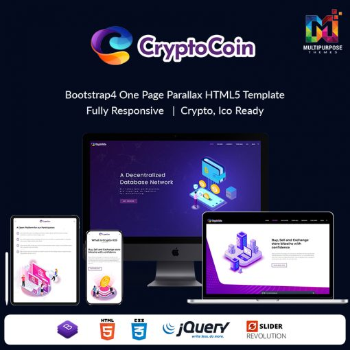 Cryptoico – ICO Bitcoin & Cryptocurrency HTML Template